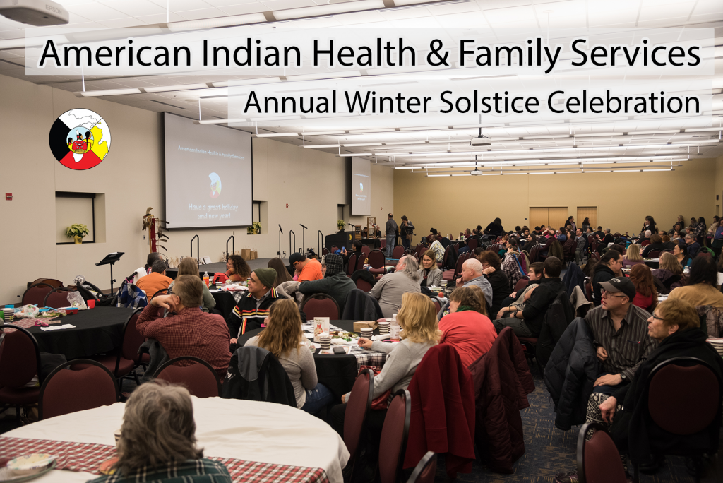 An urban American Indian community gathering hosted by American Indian Health and Family Services in Detroit, MI.