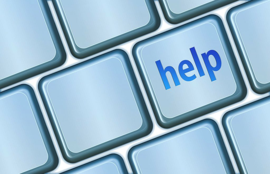 Image of a help button on a computer