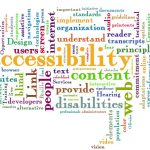 image of a word cloud using words associated with accessibility