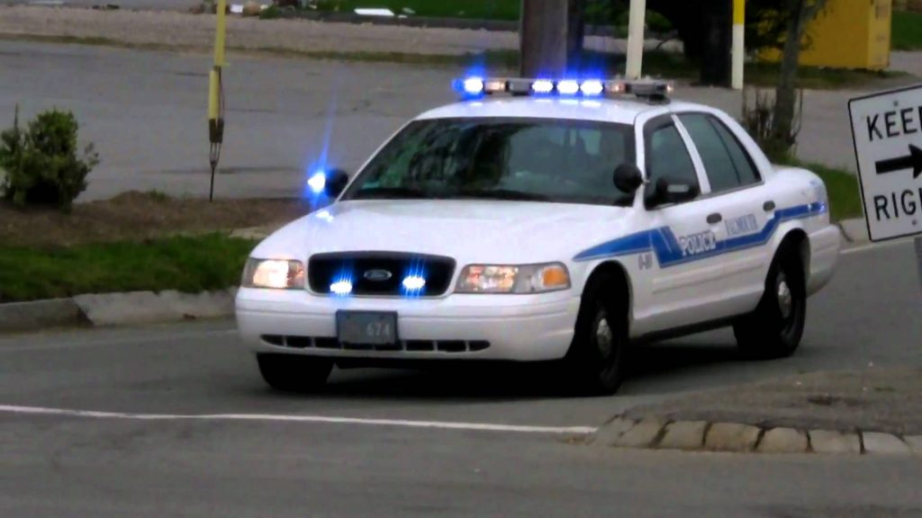 Photograph of a police vehicle
