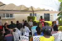 Photograph of a community meeting
