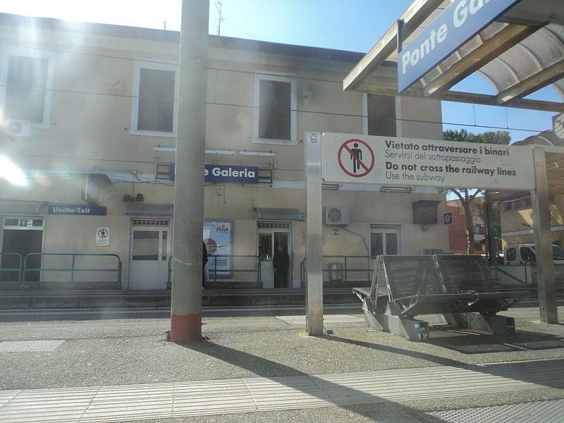Photograph of Ponte Galeria Train Station
