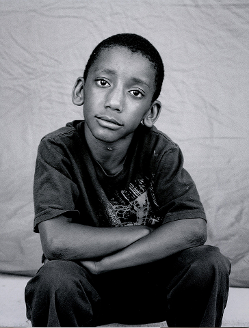 photograph of a young boy