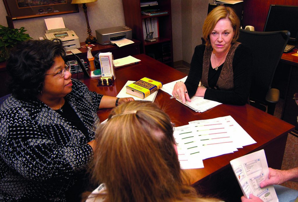 Photograph of consultants working