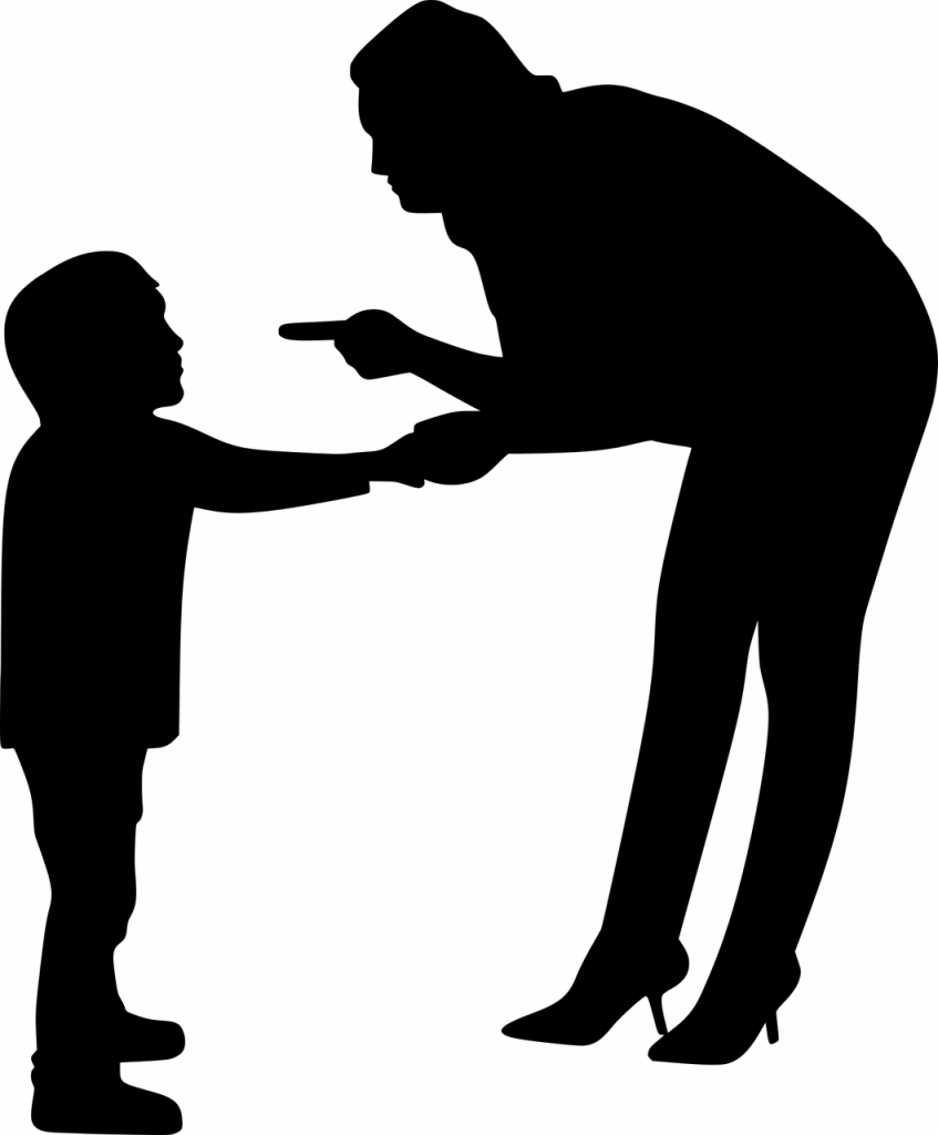 Icon of adult disciplining a child
