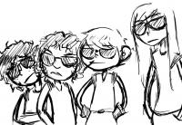 Cartoon of a gang