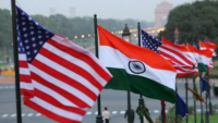 Flags of India and the United States